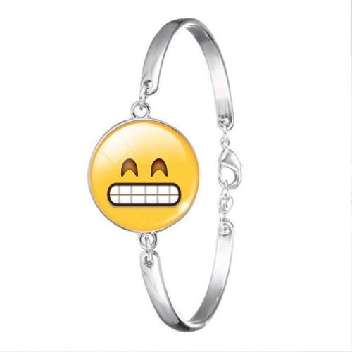 Bracciale Emoticons Smile donna con ciondolo, idea regalo