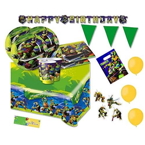 Kit 40 persone Ninja Turtles, coordinato con palloncini