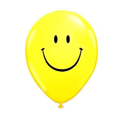 """BWS Confezione di 100 Palloncini con Smile 12""""/30 cm per Feste e Compleanni"""