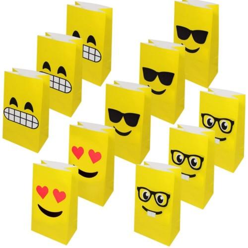 Sacchetti Regalo Emoticons, confezione da 36 sacchetti di carta