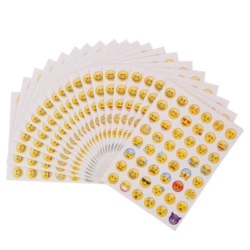 40 Fogli di Sticker Volti Sorridenti per decorazione di Cellulare, Laptop, Notebook | Divertenti Whatsapp Facebook decorazion