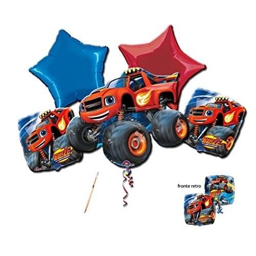 Bouquet di palloncini Blaze e le Megamacchine