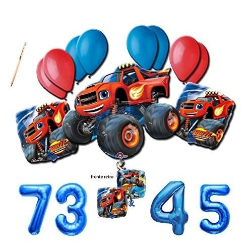 Composizione palloncini Blaze con numero foil