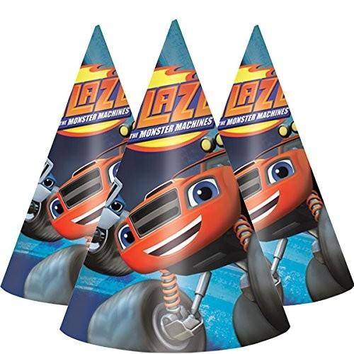 8 cappellini cono tema Blaze