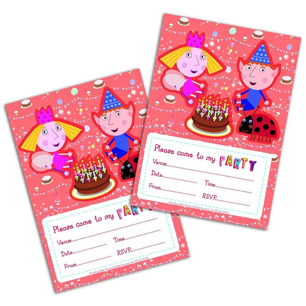 Inviti compleanno ben e holly