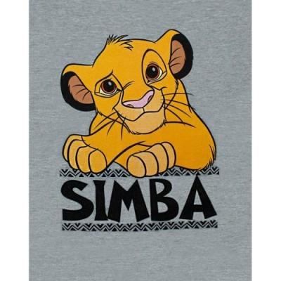 T-Shirt Casual a Manica Corta Grigia Simba Boy di Disney Lion King  5-6 Years