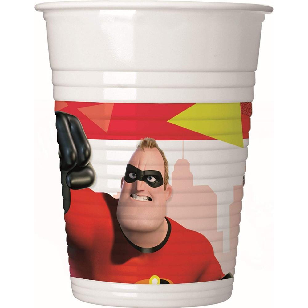 Bicchieri Gli Incredibili da 200 ml - confezione da 8 bicchieri