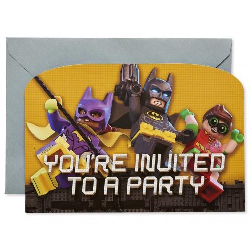Inviti compleanno Batman Lego Movie,