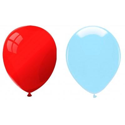 Palloncini in silicone rossi e azzurri