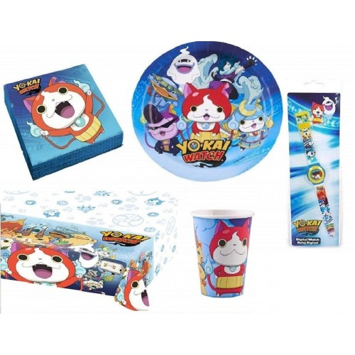 Kit per 16 persone tema Yo-Kai Watch