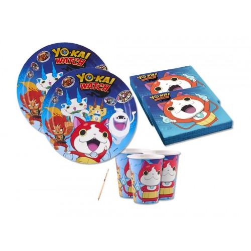 Set compleanno per 16 invitati tema Yo-kai Watch