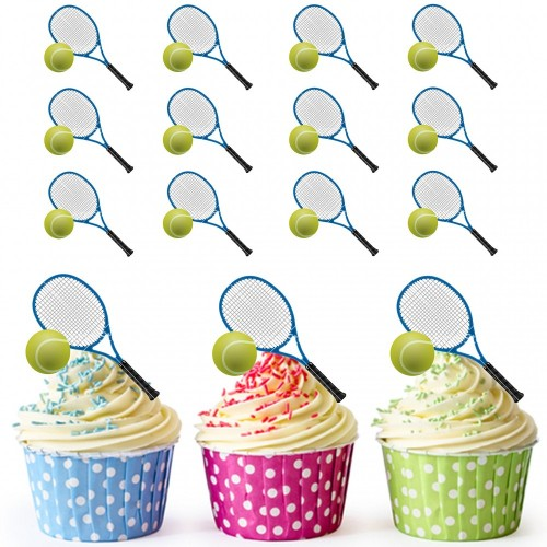 Decorazioni per cupcake tennis