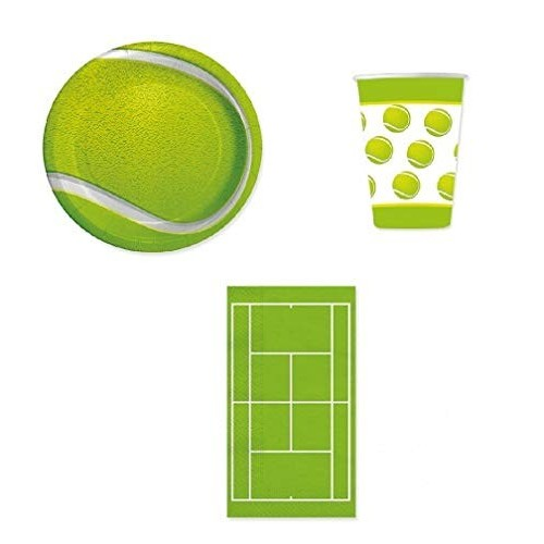 Kit compleanno tennis per 8 bambini