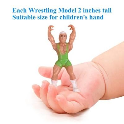 YIJIAOYUN 32pcs Mini Playset di Wrestling Include 12 Giocatori di Wrestling di Figura Miniatura di Azione e Accessori realist