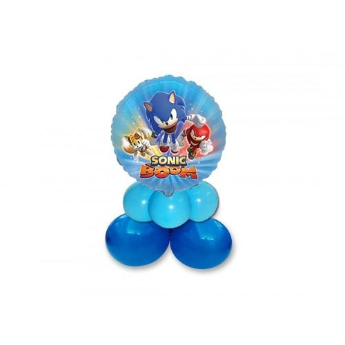 Centrotavola di palloncini Sonic The Hedgehog