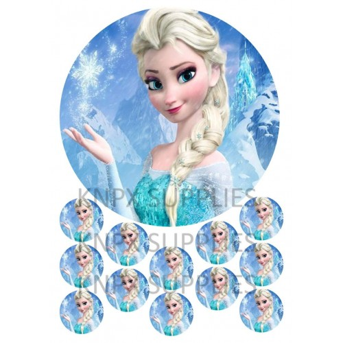 Mini cialde per Cupcakes Elsa