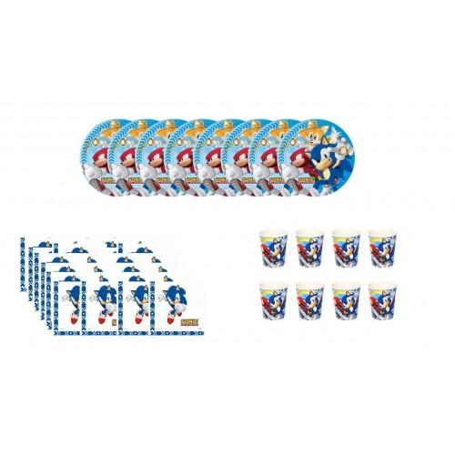 Kit per 8 persone tema  Sonic