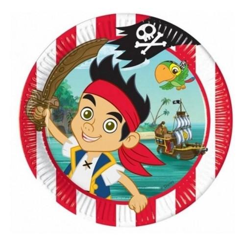 Piatti Jack e i pirati dell'isola che non c'è, 8 piatti da 23 cm