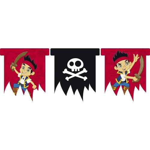 Festone Jake e i pirati, 300 x 25 cm, per feste di compleanno