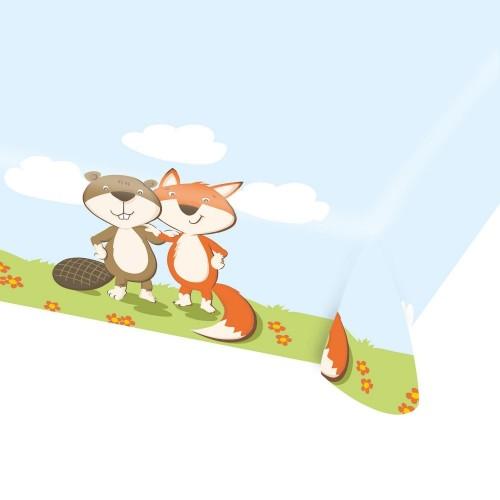 Tovaglia tema Volpe e Castoro / Fox e Beaver