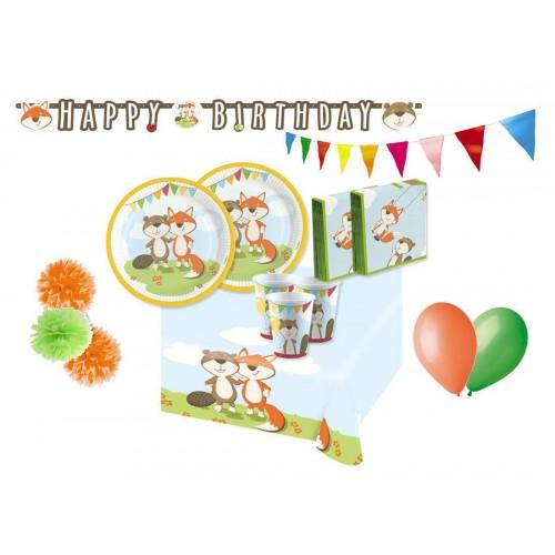 Procos IRPot - Kit N.57 Kit Compleanno Bambino Vari Personaggi  Fox & Beaver
