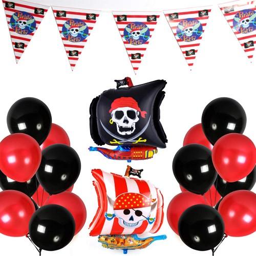 Set festa Pirati, con palloncini e festoni