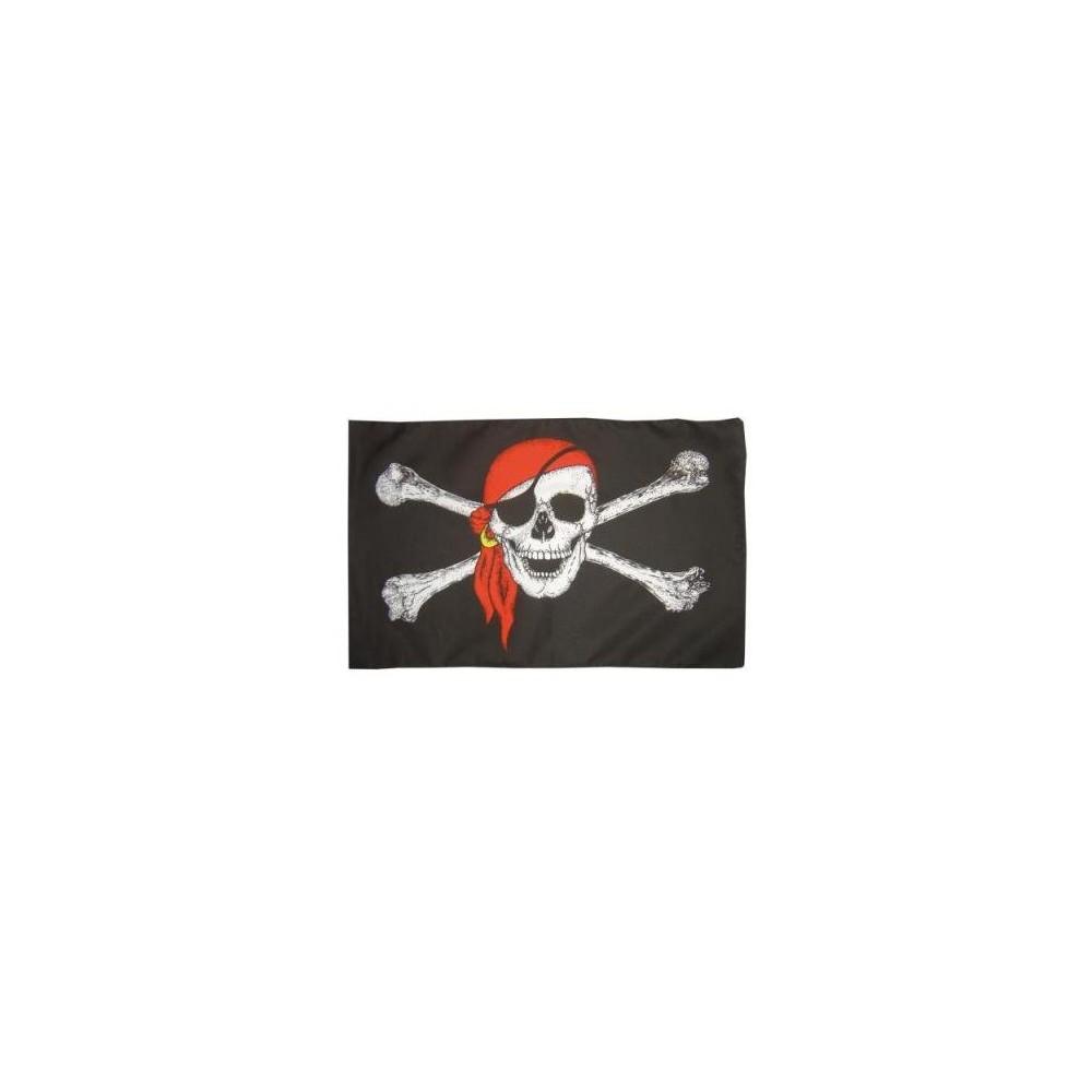 Bandierina Pirati, con teschio, bandana, 92 x 153 cm