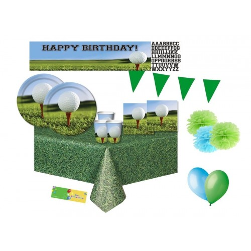 Kit compleanno per 32 persone Golf Party
