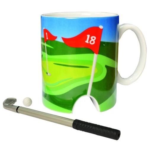 Tazza tema Golf con mazza per ufficio, idea regalo