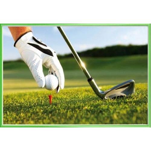 Poster tema golf con cornice