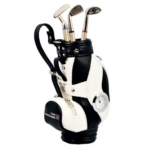 Colin Montgomerie - Set Penne a Forma di Mazze da Golf, con Mini Sacca da Golf
