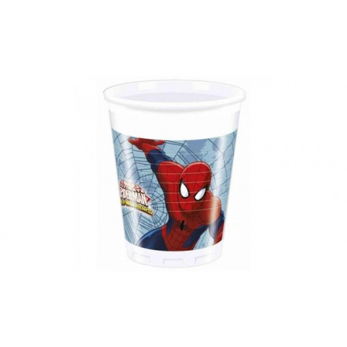 Bicchieri Spiderman da 200 ml, in plastica, per feste a tema