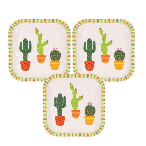 10 quadrati tema Cactus