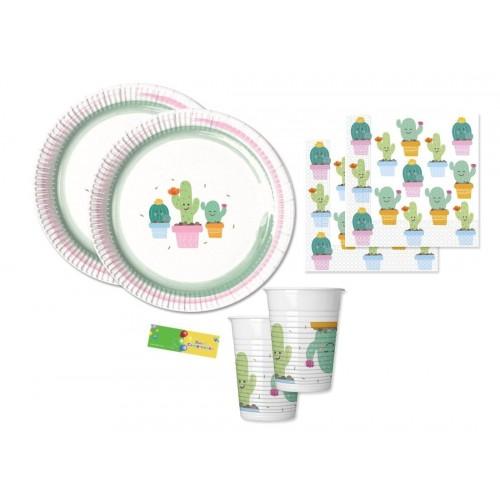 Kit compleanno per 16 bambini tema Cactus Party