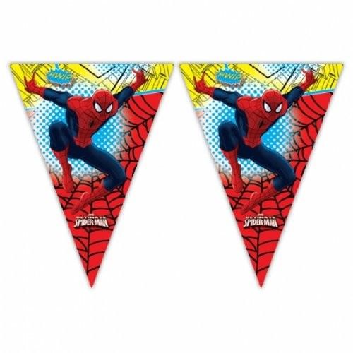 Bandierine Spiderman, 2,3 mt, per party a tema