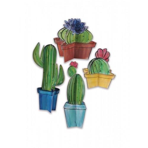 Centrotavola 3D in Cartone Cactus