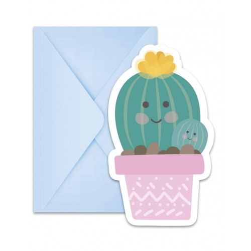 Inviti in compleanno tema Cactus