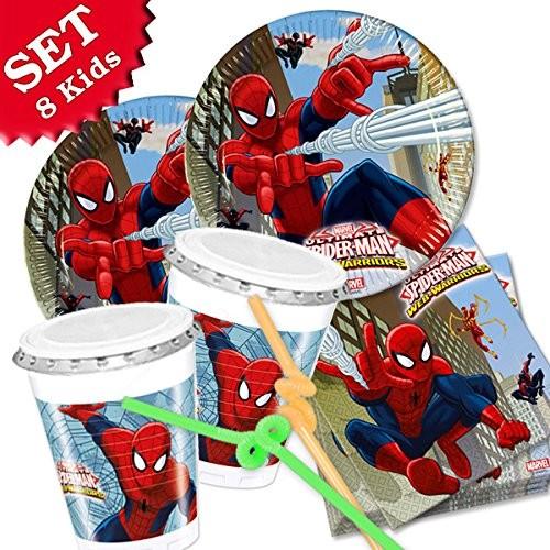 Kit 8 persone Spiderman, coordinato per festa