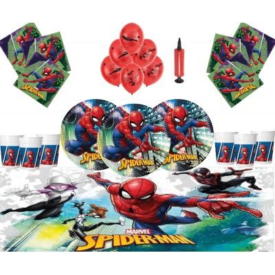 Kit 16 persone con palloncini Spiderman
