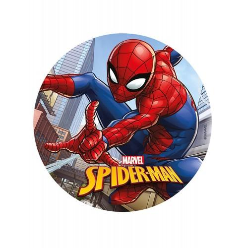 Cialda Spiderman da 20 cm, per decorare torte e dolci