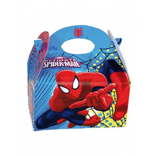 Scatole Spiderman, 10 pz, 16 x 10 x16 cm, idea regalo
