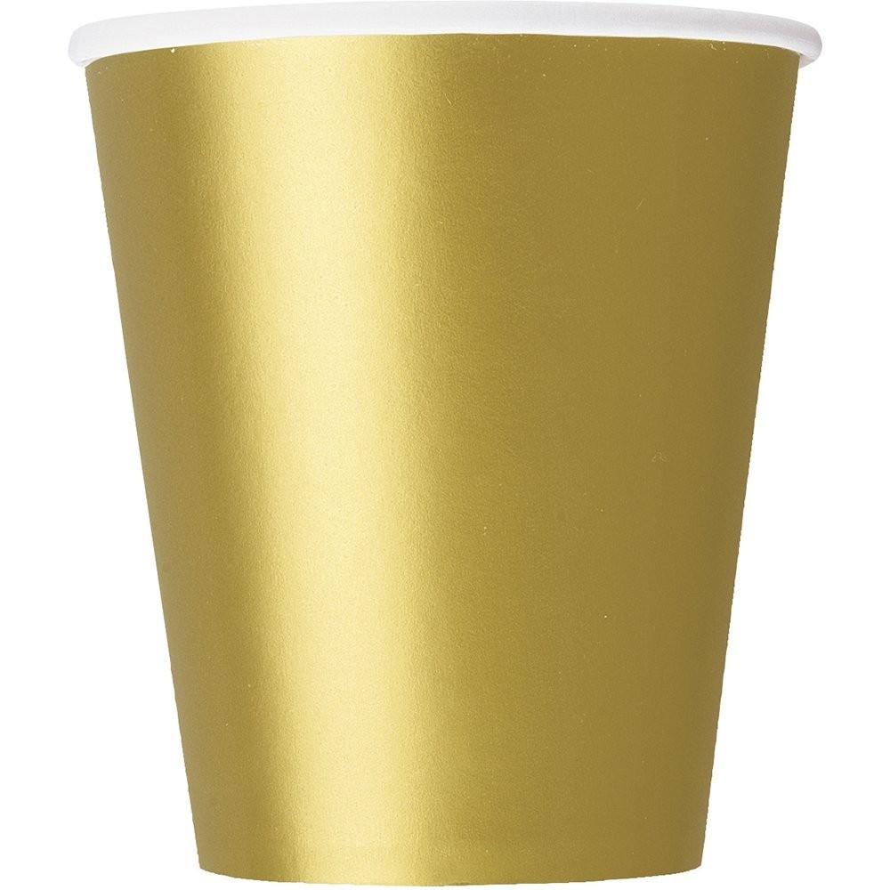 Bicchieri di Carta oro