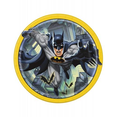 Piatti Batman, 8 pz, diamentro 23 cm, per feste