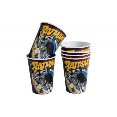 Bicchieri Uomo Pipistrello, Batman, per feste, 8 pz