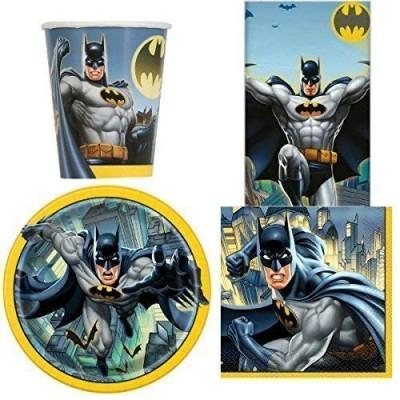 Kit 8 persone Batman, coordinato per festa