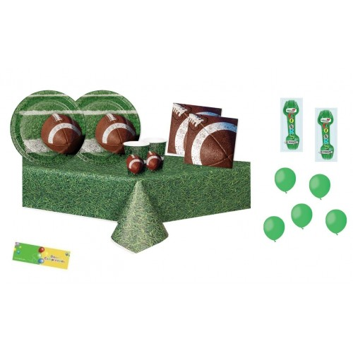 Kit per 16 persone tema Rugby - Football