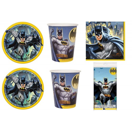 Kit 16 persone Batman per feste a tema