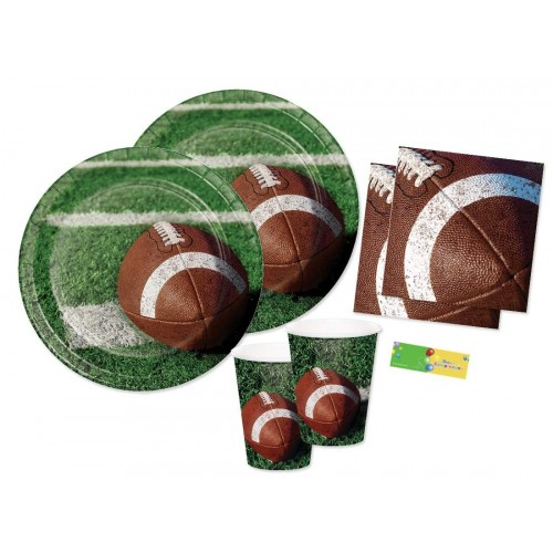 Kit compleanno 16 persone tema Rugby - Football Americano