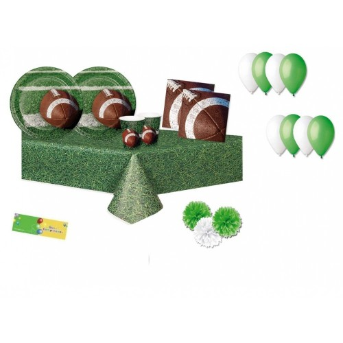 Kit per 8 persone tema Rugby - Football