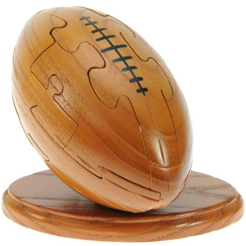 Puzzle in legno 3D palla da rugby